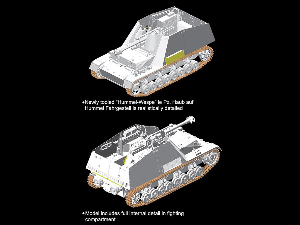 Autopropulsado alemán Sd.Kfz.165 Hummel- (Vista 3)
