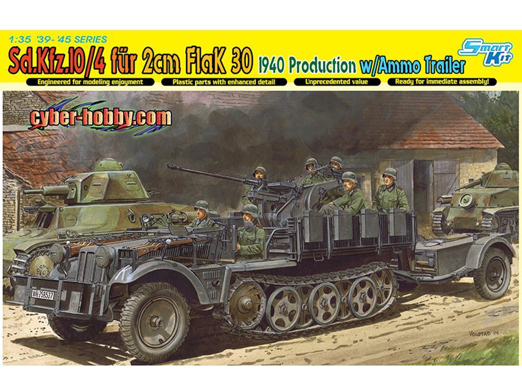 Sd.Kfz.10/4 Fur 2cm FlaK 1940 Prod. w/ A (Vista 1)