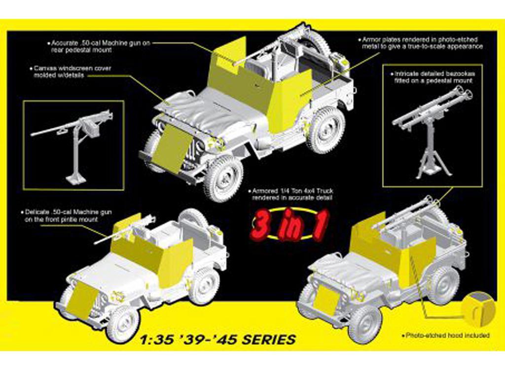 Armored 1/4-Ton 4x4 Truck w/.50-cal Machine Gun (Vista 3)