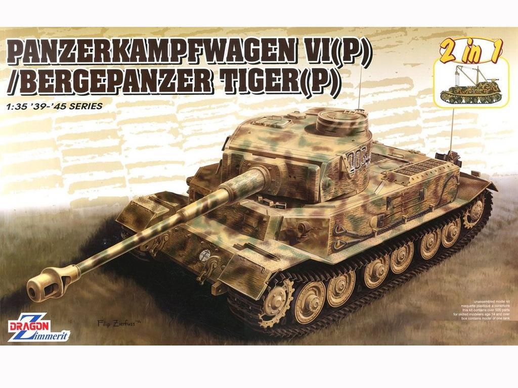 Panzerkampfwagen VI(P) / Bergepanzer Tiger(P) (Vista 1)