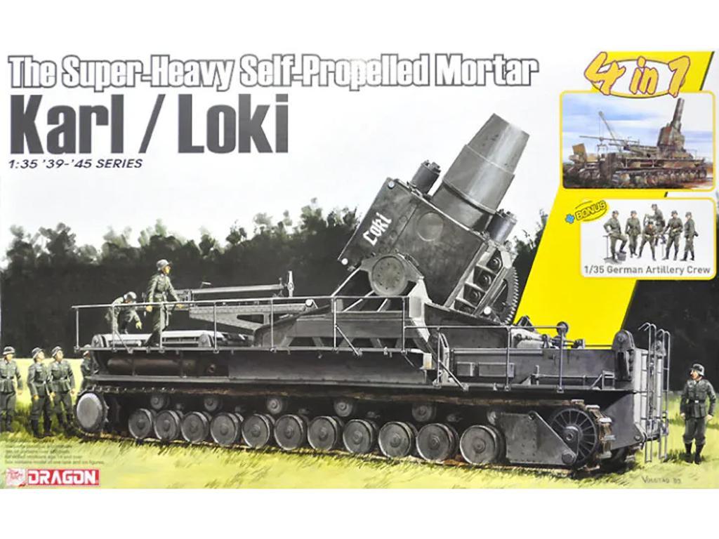 German Super-Heavy Self-Propelled Mortar Karl/Loki (Vista 1)