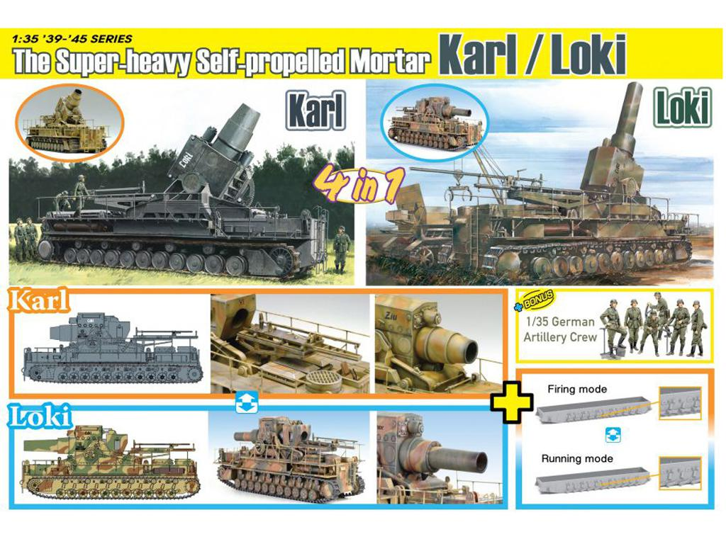 German Super-Heavy Self-Propelled Mortar Karl/Loki (Vista 2)