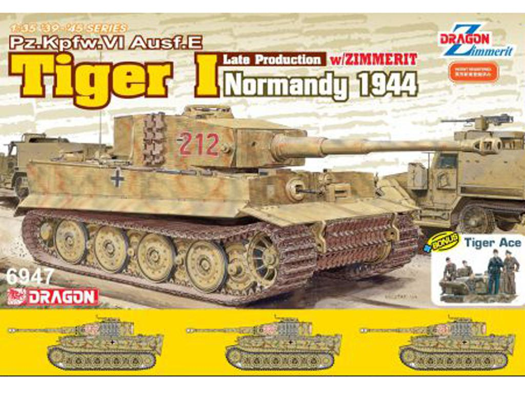 Tiger I Late Production w/Zimmerit Normandy 1944 (Vista 1)