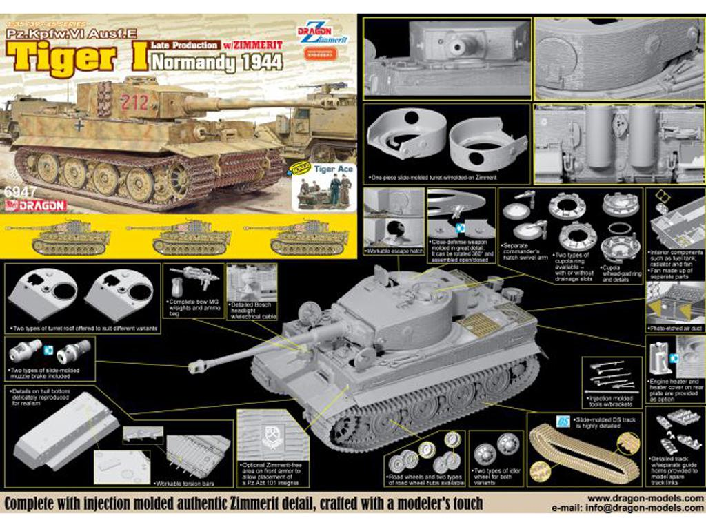 Tiger I Late Production w/Zimmerit Normandy 1944 (Vista 2)