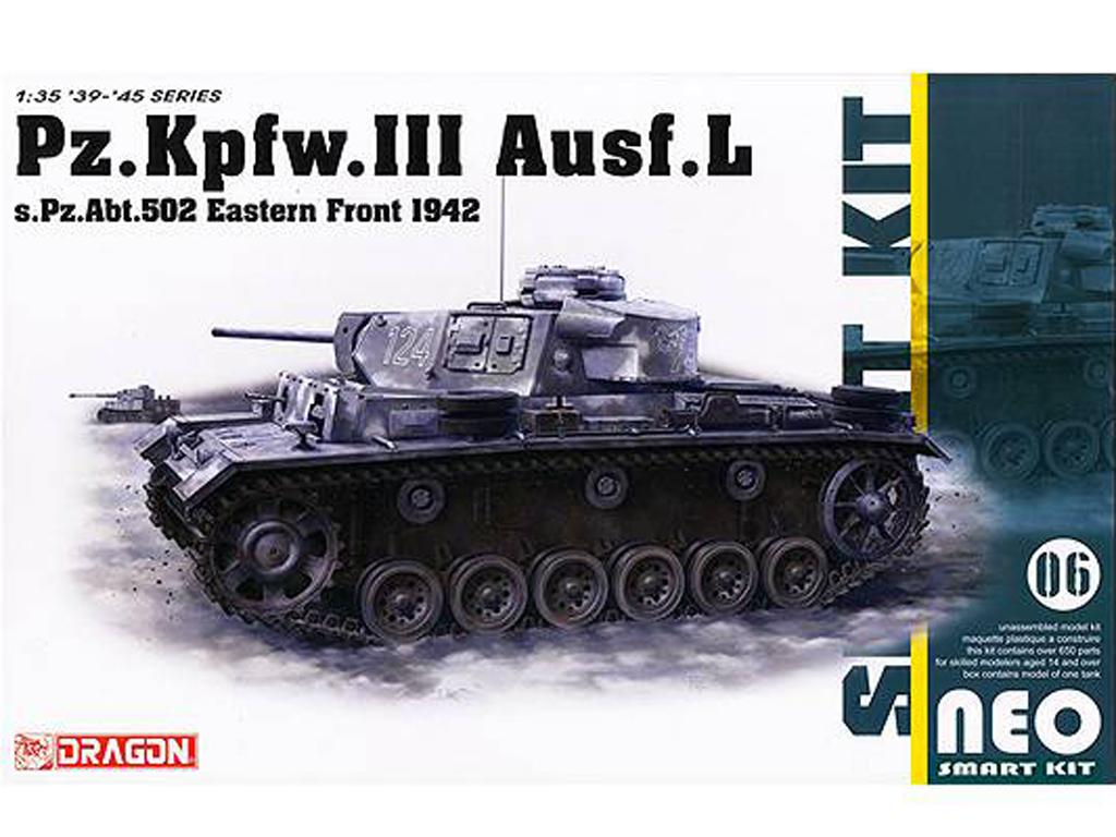 Pz.Kpfw.III Ausf.L s.Pz.Abt.502 Leningrad 1942/43  (Vista 1)
