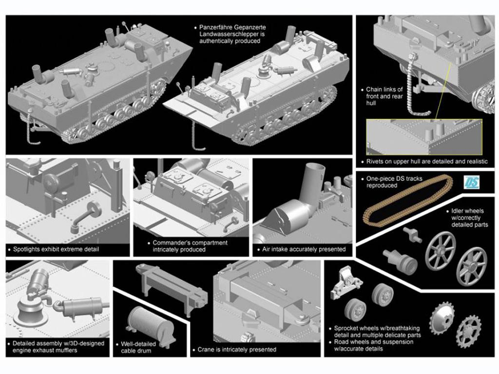 Panzerfähre Gepanzerte Landwasserschlepp (Vista 2)