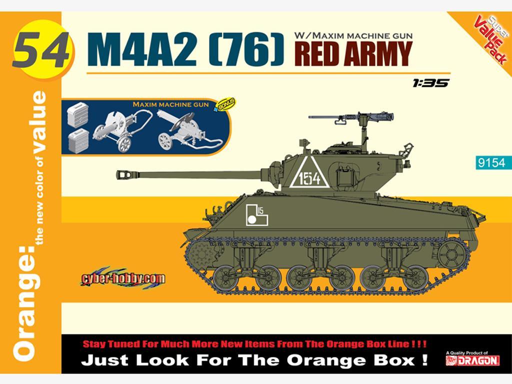 M4A2 (76) Red Army + Maxim Machine Gun (Vista 1)