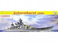 Acorazado Alemán Scharnhorst, 1940 (Vista 3)