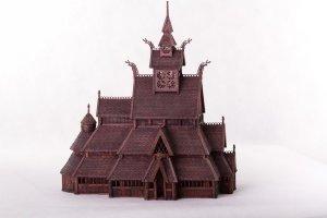 Norwegian stave church GOL:  (Vista 1)