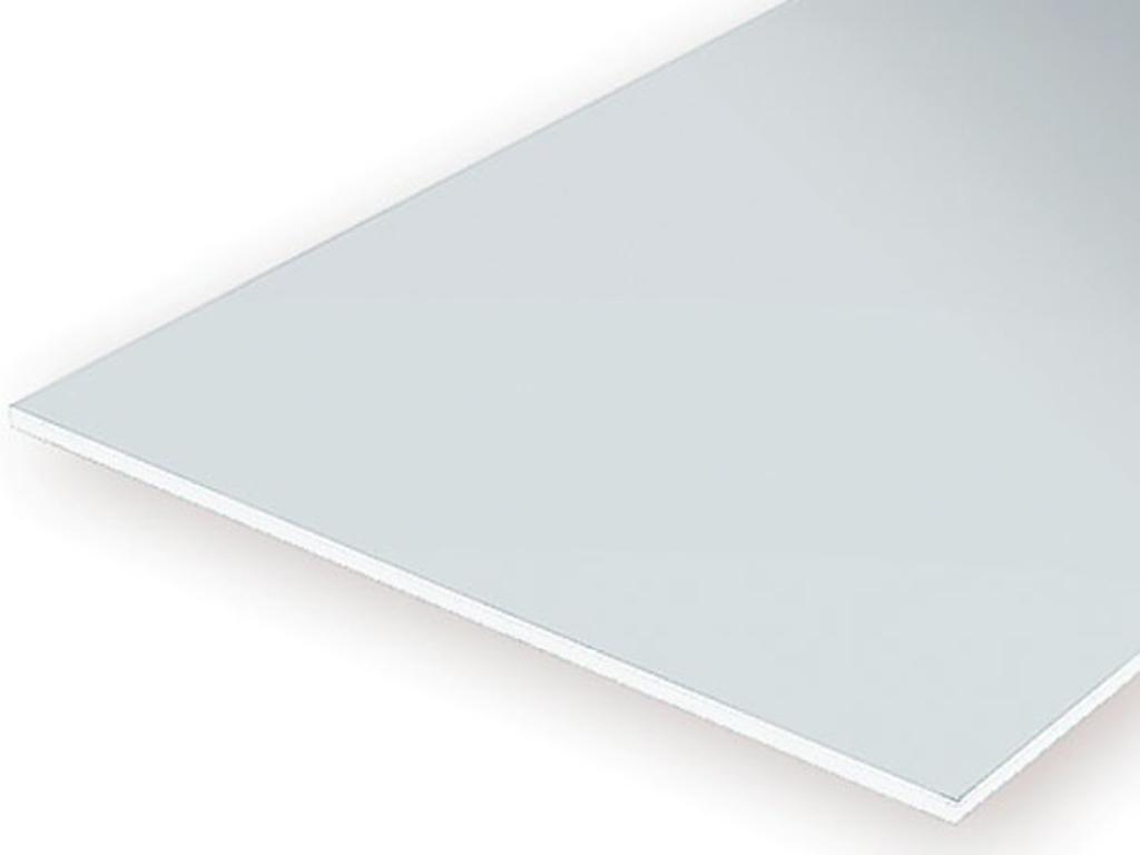 Plancha 30 x 15 cm. 0,25 mm Blanca  (Vista 1)