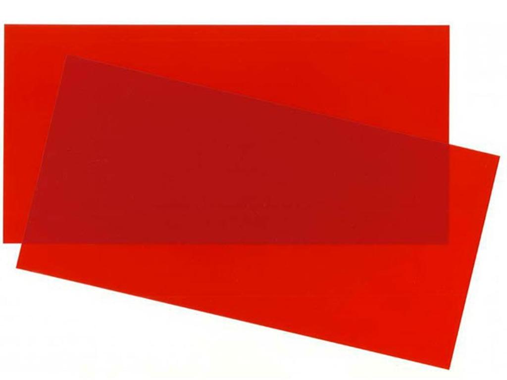 Hoja color Rojo 15x30x0.25cm  (Vista 1)