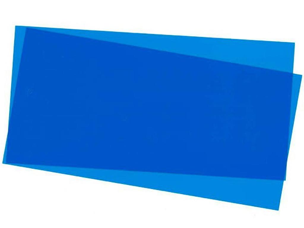 Hoja color Azul 15x30x0.25cm  (Vista 1)