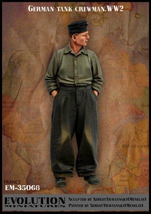German tank crewman. WW2  (Vista 1)