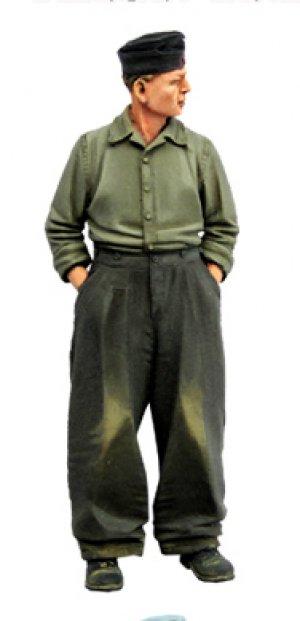 German tank crewman. WW2  (Vista 2)