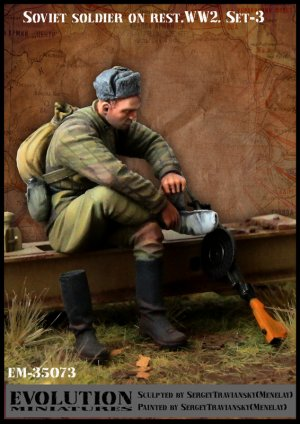 Soviet soldier on rest. WW2  (Vista 1)