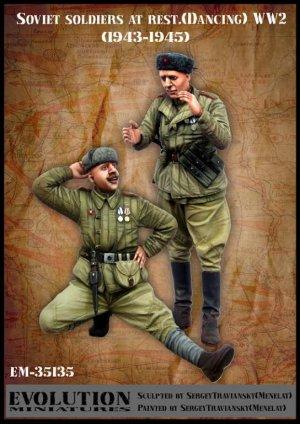 Soldados Soviéticos en reposo 1943-1945  (Vista 1)