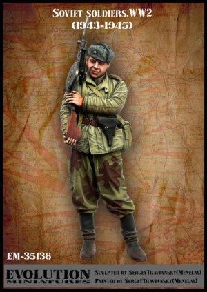 Soldado Soviético en reposo 1943-1945  (Vista 1)