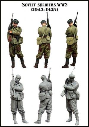 Soldado Soviético en reposo 1943-1945  (Vista 2)