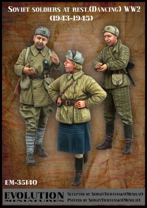 Soldados Sovieticos descansando 1943/45  (Vista 1)