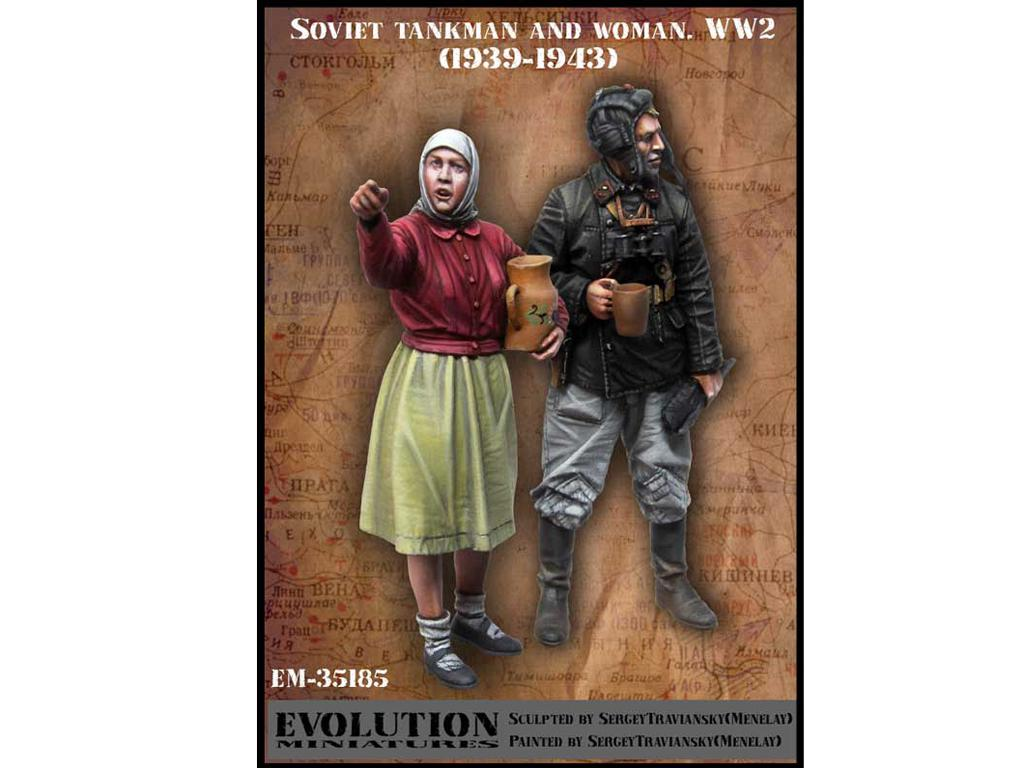 Tanquista y Mujer Ruso 1939-1943 (Vista 1)