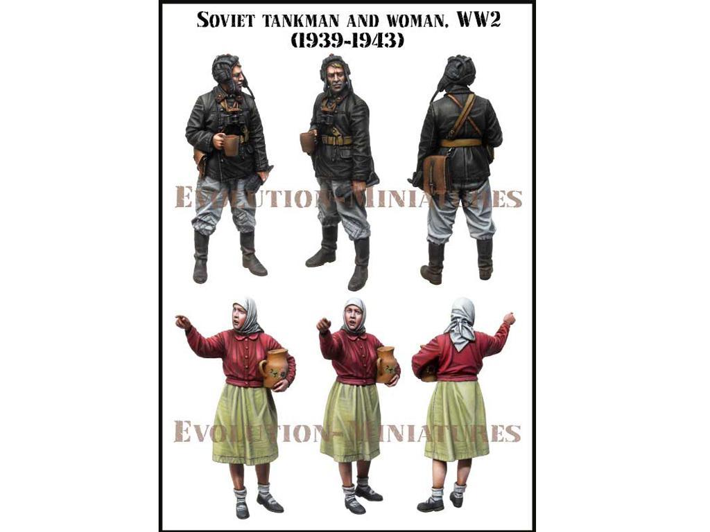 Tanquista y Mujer Ruso 1939-1943 (Vista 2)