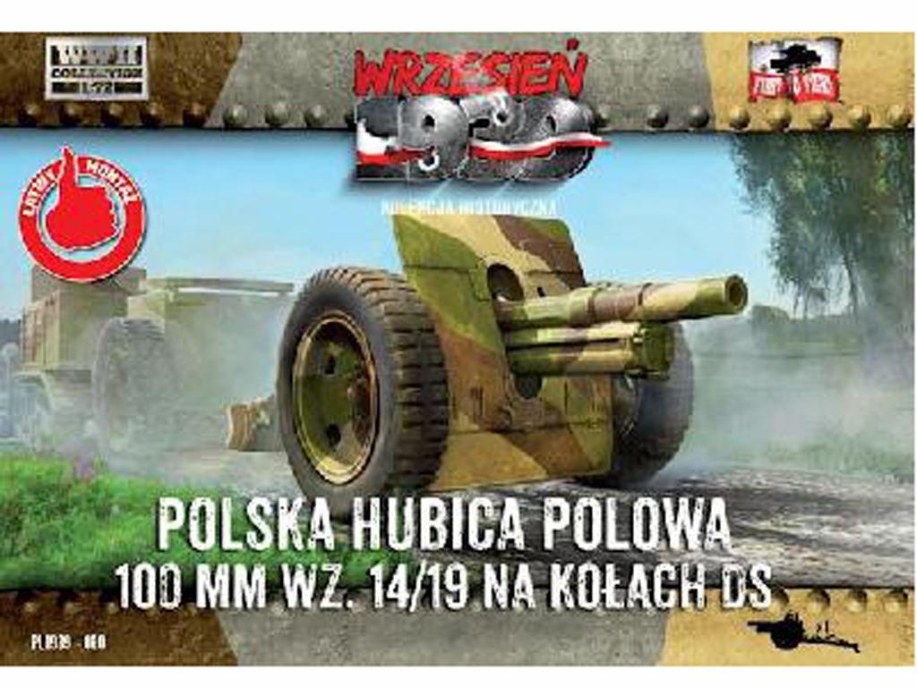 Skoda 100 mm 14/19 Gun with wheels - 1939 (Vista 1)