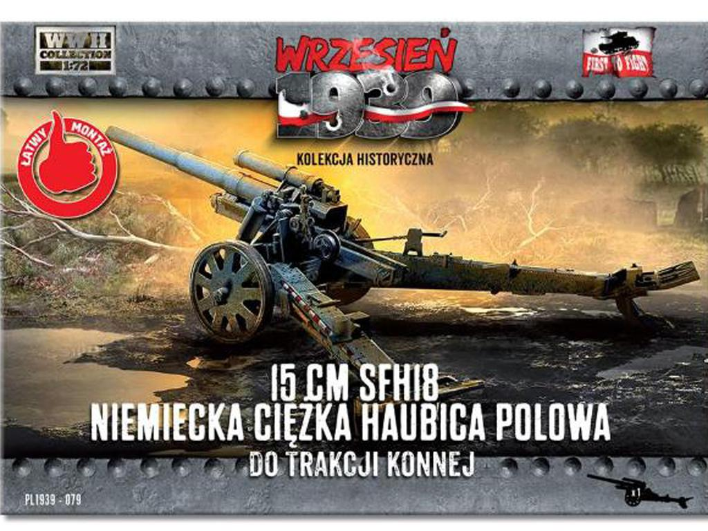 15 cm sFH 18 German heavy howitzer for horse traction (Vista 1)