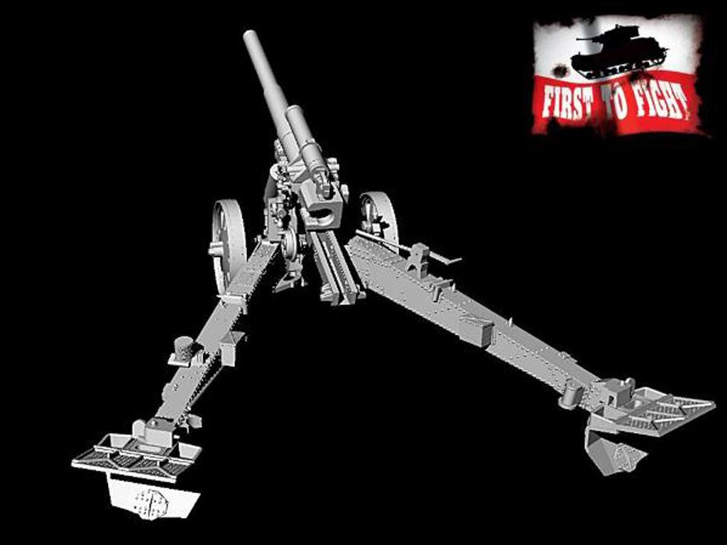 15 cm sFH 18 German heavy howitzer for horse traction (Vista 3)