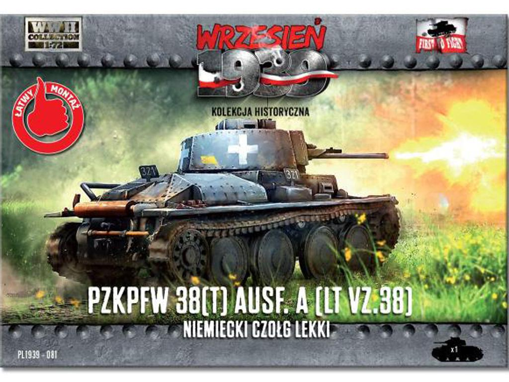 German light tank PzKpfw 38 (t) Ausf.A (Vista 1)