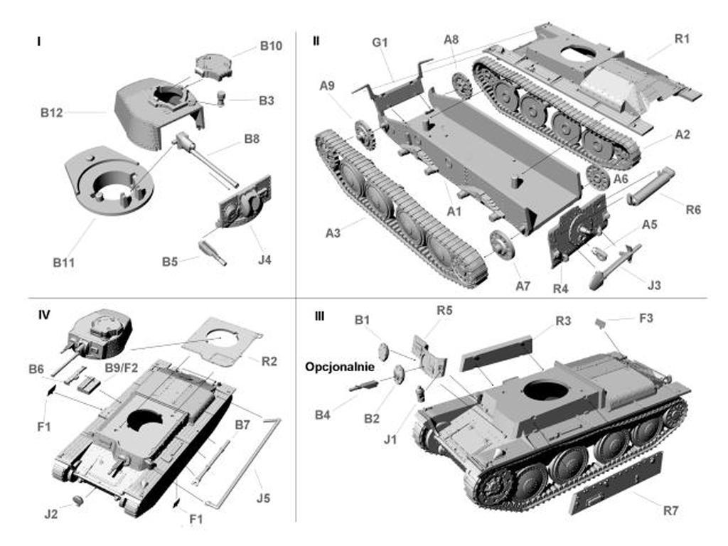 German light tank PzKpfw 38 (t) Ausf.A (Vista 2)