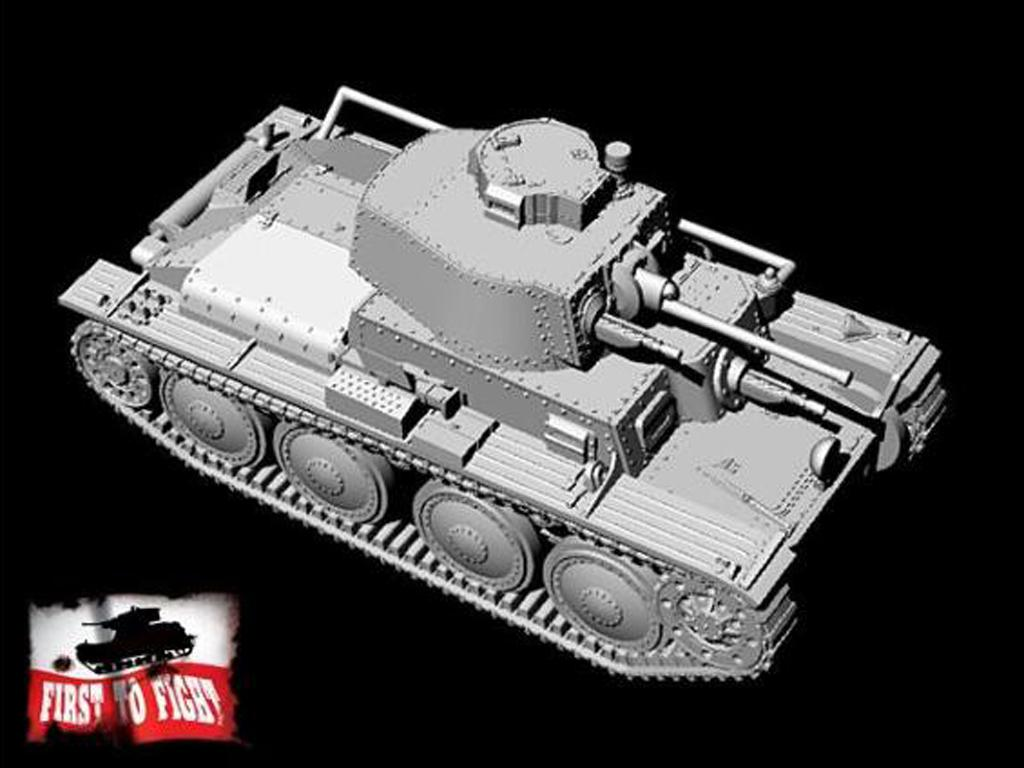 German light tank PzKpfw 38 (t) Ausf.A (Vista 3)