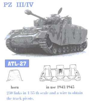 Panzer III / IV 40 cm final - Ref.: FRIU-ATL027