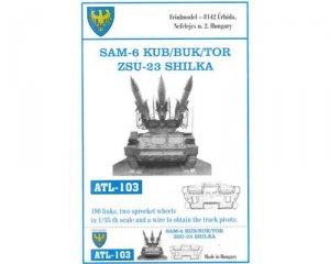 Cadenas para el SAM-6 KUB/BUK/TOR ZSu23  - Ref.: FRIU-ATL103