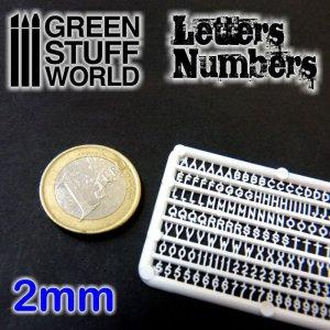 Letras y números 2 mm  (Vista 1)