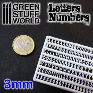 Letras y números 3 mm  (Vista 1)