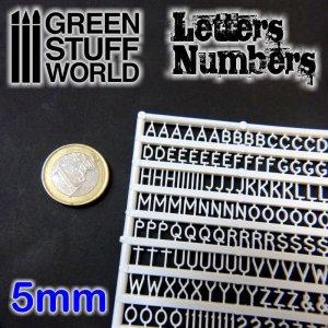 Letras y números 5 mm  (Vista 1)