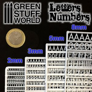 Letras y números 5 mm  (Vista 2)