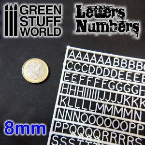 Letras y números 8 mm  (Vista 1)