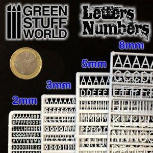Letras y números 8 mm  (Vista 2)