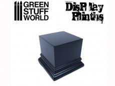 Peana Cuadrada 6 x 6 cm Negra - Ref.: GREE-01735