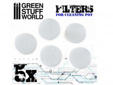 Filtros para Recipiente Limpiador de Aerógrafo - Ref.: GREE-03739