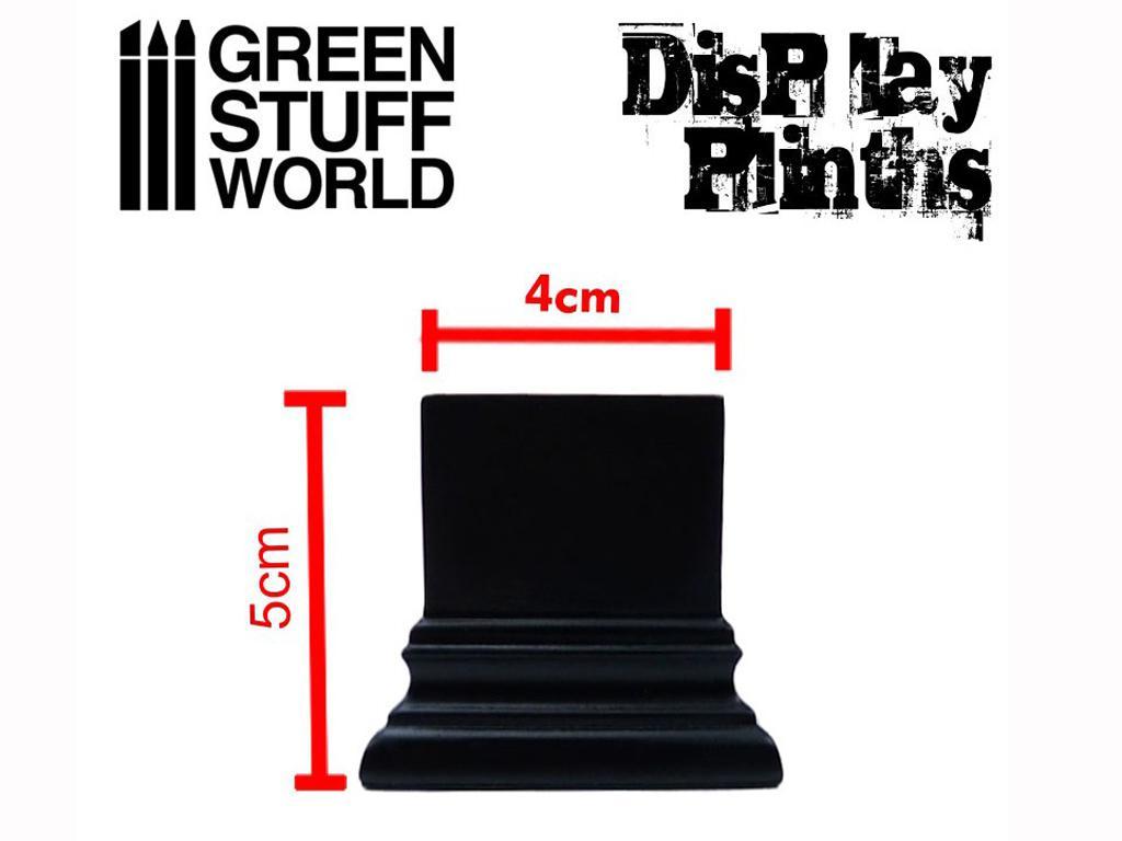 Peana Cuadrada 4 x 4 cm Negra (Vista 3)