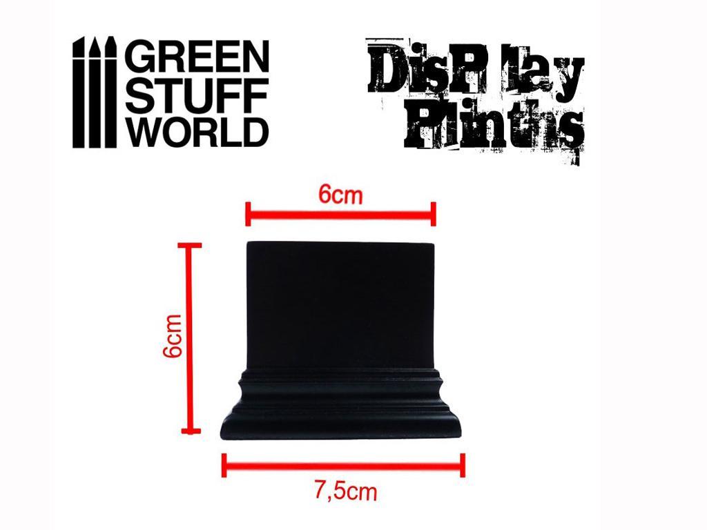Peana Cuadrada 6 x 6 cm Negra (Vista 3)