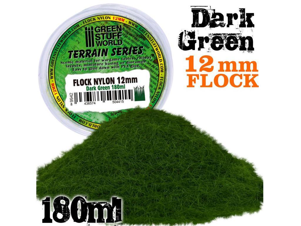 Cesped Electrostatico 12 mm - Verde Oscuro (Vista 1)