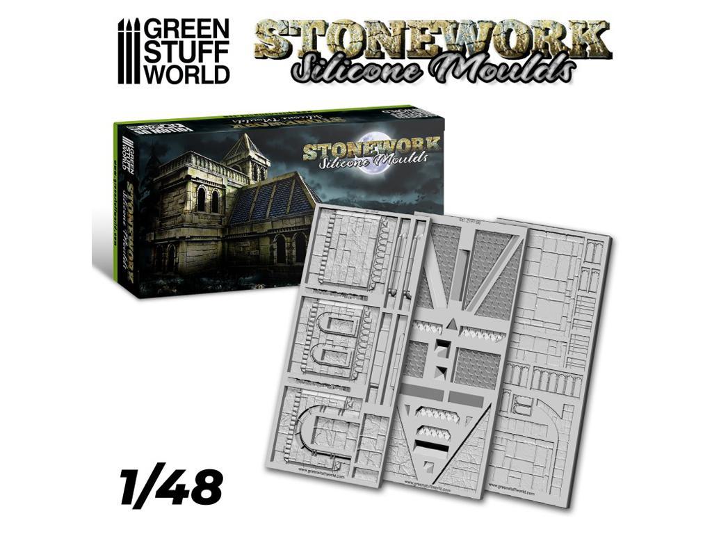 Moldes de Silicona - Stonework (Vista 1)