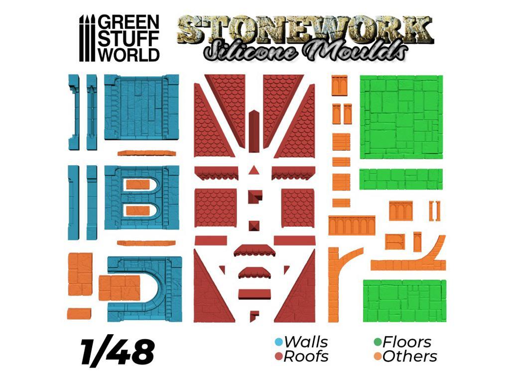 Moldes de Silicona - Stonework (Vista 4)