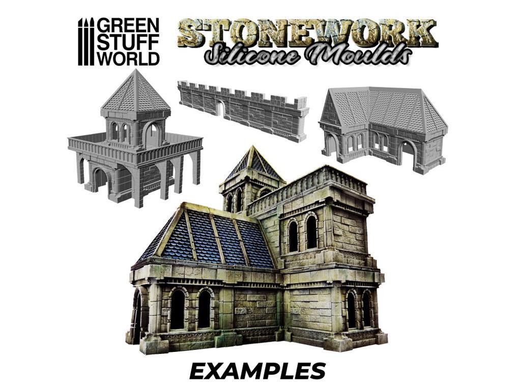 Moldes de Silicona - Stonework (Vista 5)
