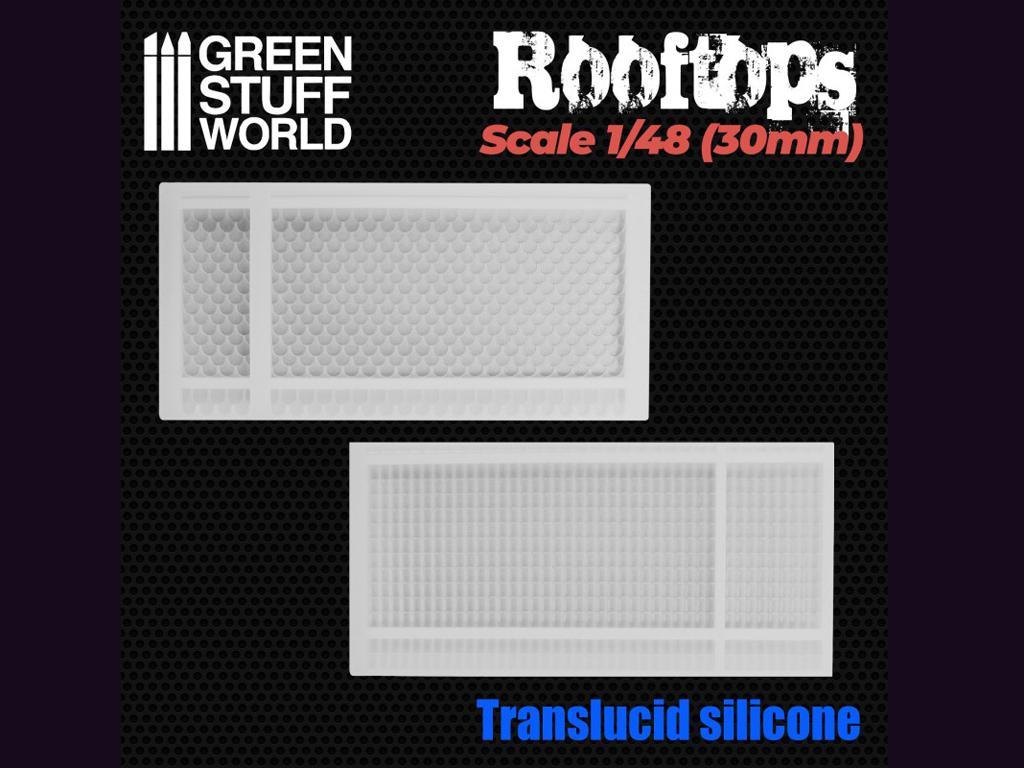 Moldes de Silicona Tejados 1/48 (30mm) (Vista 2)