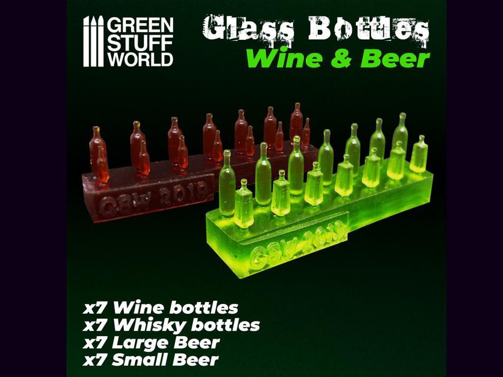 Botellas de Vino y Cerveza (Vista 1)
