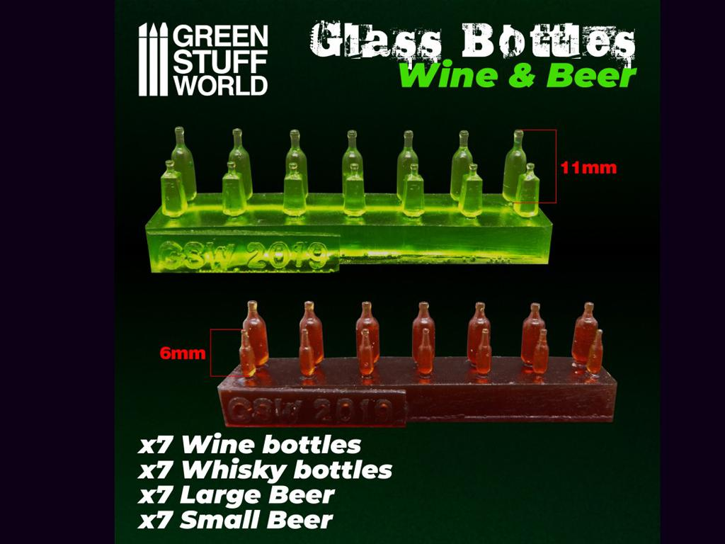 Botellas de Vino y Cerveza (Vista 3)